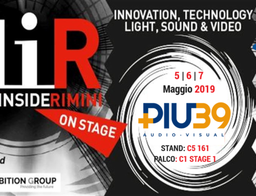 Più39 Audio Visual al Music Inside Rimini & Live You Play 2019