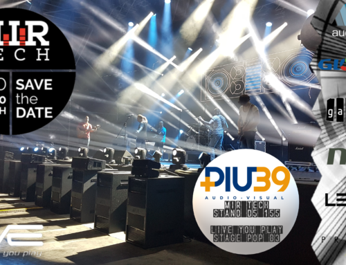 Più39 Audio Visual al Mir Tech & Live You Play 2020